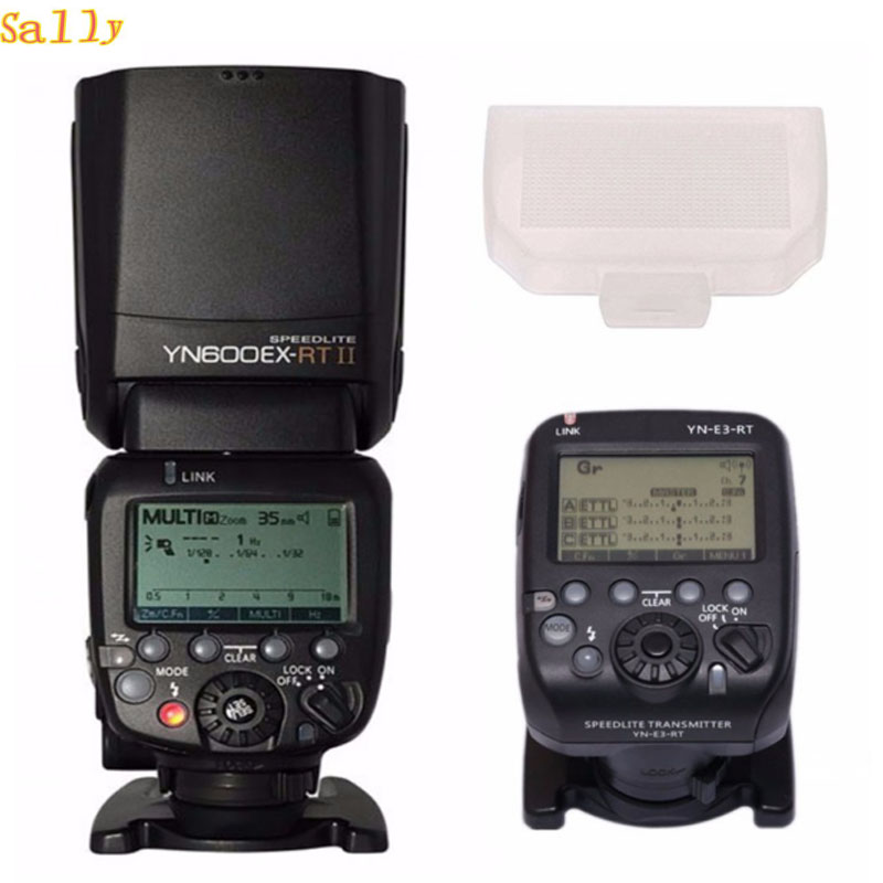 YONGNUO YN600EX-RT II Wireless Flash Speedlite with Optical Master and TTL HSS for Canon  1200D 1100D 100OD 80D 6D 7D 5D mark IV yongnuo yn968ex rt ttl wireless flash speedlite with led light compatible with yn e3 rt yn600ex rt for canon 600ex rt st e3 rt
