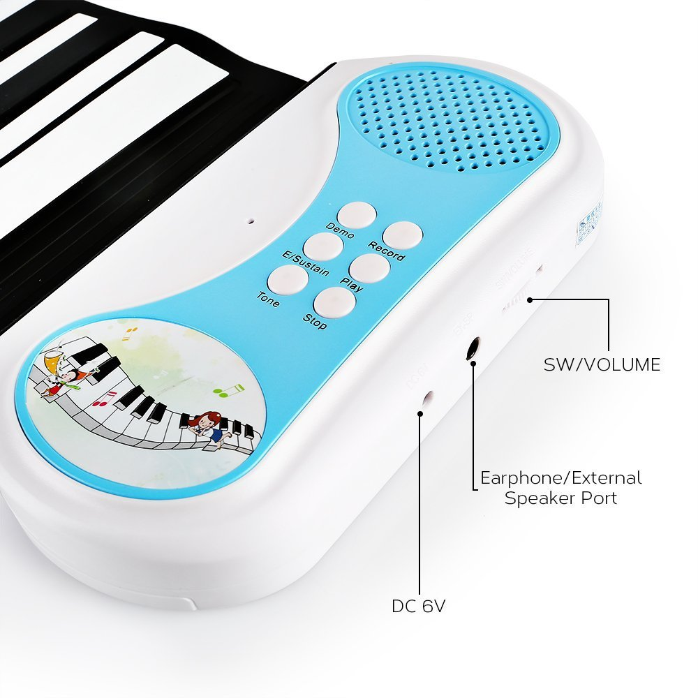 49 Keys With Horn, Hand Roll, Piano, Portable Folding Electronic Organ Can Roll Up Piano Children's Beginner Practice Piano. doremi intelligent professional hand rolled electronic piano 49 keys children silicone folding portable piano s2049