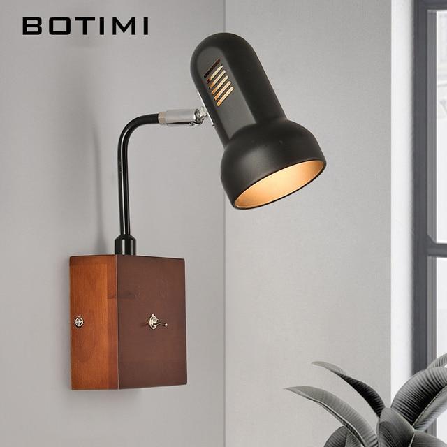 BOTIMI R glable Mur Lampe Avec Interrupteur Moderne Bois LED Applique Murale De Chevet Lampes Pour.jpg 640x640 5 Élégant Applique Murale Interrupteur Jdt4