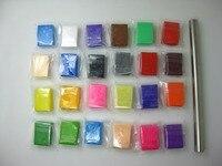 24 색 오븐 구워 컬러 점토 세트 도구 점토 교육 장난감 어린이 베이킹 폴리머 클레이
