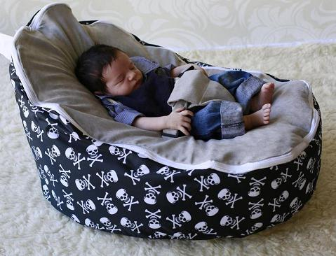 Free Shipping Disco Convertible  Baby Beanbag Chair, Two Tops Baby Beanbags Cover Only