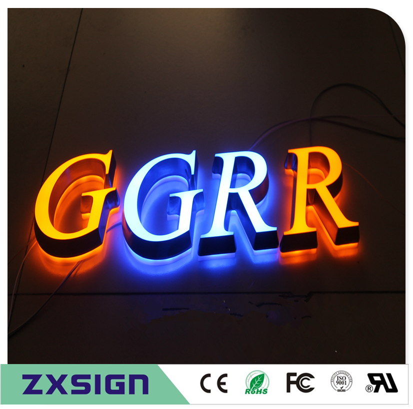 Factory Outlet  Outdoor advertising acrylic illuminated signboard,double lit letter signs