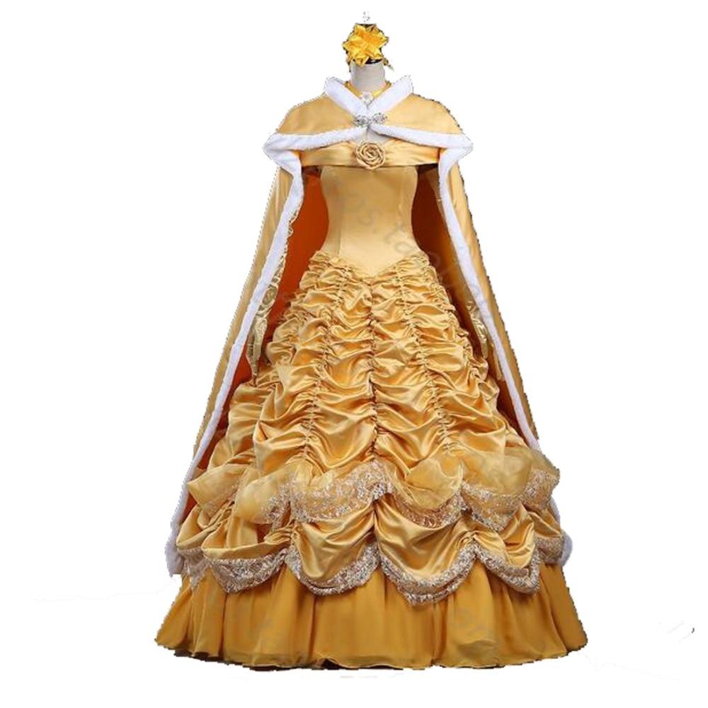 2017 La Bella Y La Bestia Adulto Princesa Belle Disfraz De Princesa - Disfraces