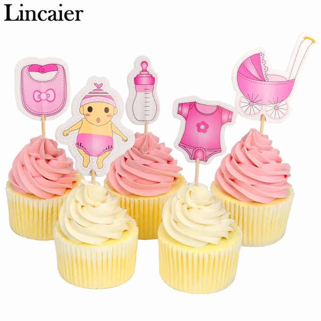 Lincaier 20 pz Baby Shower Toppers Cupcake di Nozze Babyshower È UN Ragazzo Dell