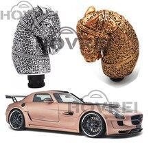 1 шт. Универсальная высококачественная резиновая Серебряная классная Античная голова лошади в форме автомобиля ручная рукоятка для рычага переключения передач автомобильные аксессуары