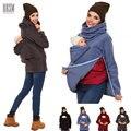 3 Em 1 Multi-funcional Mãe Canguru Camisola Maternidade Outono Inverno Roupas femininas Gravidez Vestindo Casaco Engrossado