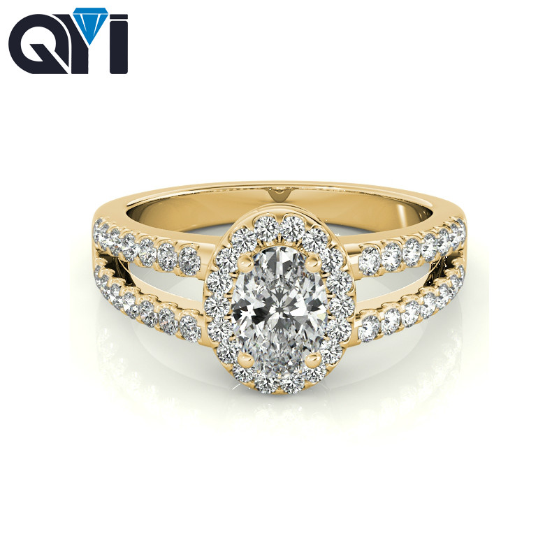 QYI 10k Yellow gold 3 ct Oval Cut Women Simulated diamond Jewelry Rings Engagement Wedding Ring Female Fine Jewelry GiftQYI 10k Yellow gold 3 ct Oval Cut Women Simulated diamond Jewelry Rings Engagement Wedding Ring Female Fine Jewelry Gift