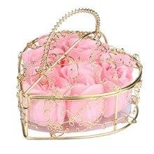 6 шт. Ароматические розы Лепесток для ванной мыло для тела Свадебная вечеринка подарок