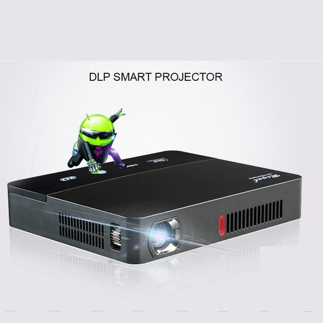 Built In Battery Mini 3D Projector 1080P Full HD DLP Smart