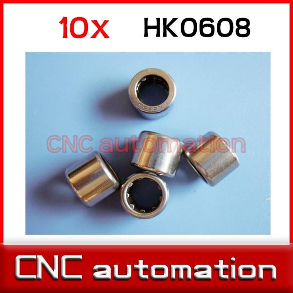 10 шт. HK0608 иглы роликовый подшипник 6 мм x 10 мм x 8 мм TLA608Z RHNA061008 для 6 мм вал