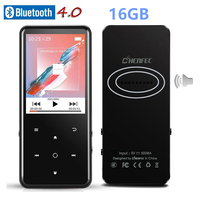 Touch 16GB Bluetooth 4.0 MP3 player, 2.4 inch TFT color screen, FM / recorder lossless Audio Metal Music Player With Speaker