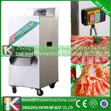 10% discount waterproof switch stainless iron electric fresh meat slicer machine commercial with 460 r/min cutting speed