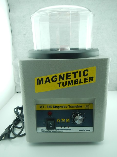 KT-185 Magnetic Tumbler 16cm with 100g magetic pins, Jewelry Polisher Super Finishing, Magnetic Polishing Machine