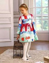 2016 New Bottoming Dress Girl Summer and autumn Style Dress Vintage Party vestidos Princess Dresses For Kids Clothing HB1088