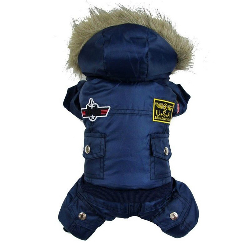 High Qulaity Dog Puppy Winter Jacket Coat USA LUFTFORCE - Pet produkter - Foto 6