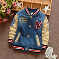 2016 autumn new children's long-sleeved cotton jacket Korean children boys baseball uniform cardigan coat