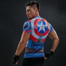 Captain America 3D Printed T Shirt Men s Compression Shirt Superhero Marvel Comics Funny Fitness
