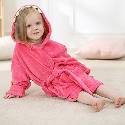 f03e8f7995805c 2 kolory różowy czerwony/zielony Dino z kapturem szlafrok sowa ręcznik  plażowy/tył cierń dinozaur modelowania spa szata w 2 kolory-różowy  czerwony/zielony ...