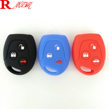 3 Buttons Silicone Car Key FOB Case Cover Set fit For Ford Focus Mondeo Festiva Fusion Suit Fiesta KA Remote Protector