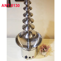 Free DHL ANT 8130 7 Tires Fountain Fondue Chocolate Commercial 304 Stainless Steel Chocolate Fountain 110V