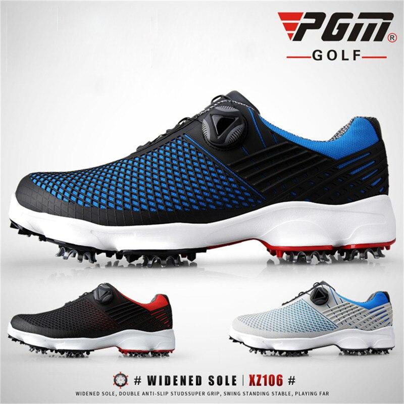 PGM nouvelles chaussures de Golf hommes imperméable respirant antidérapant baskets mâle rotatif lacets sport chaussures à crampons baskets XZ106 - 6