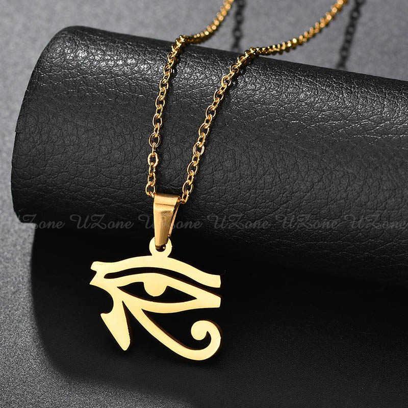 Очаровательное ожерелье с подвеской «глаз Хора» из нержавеющей стали