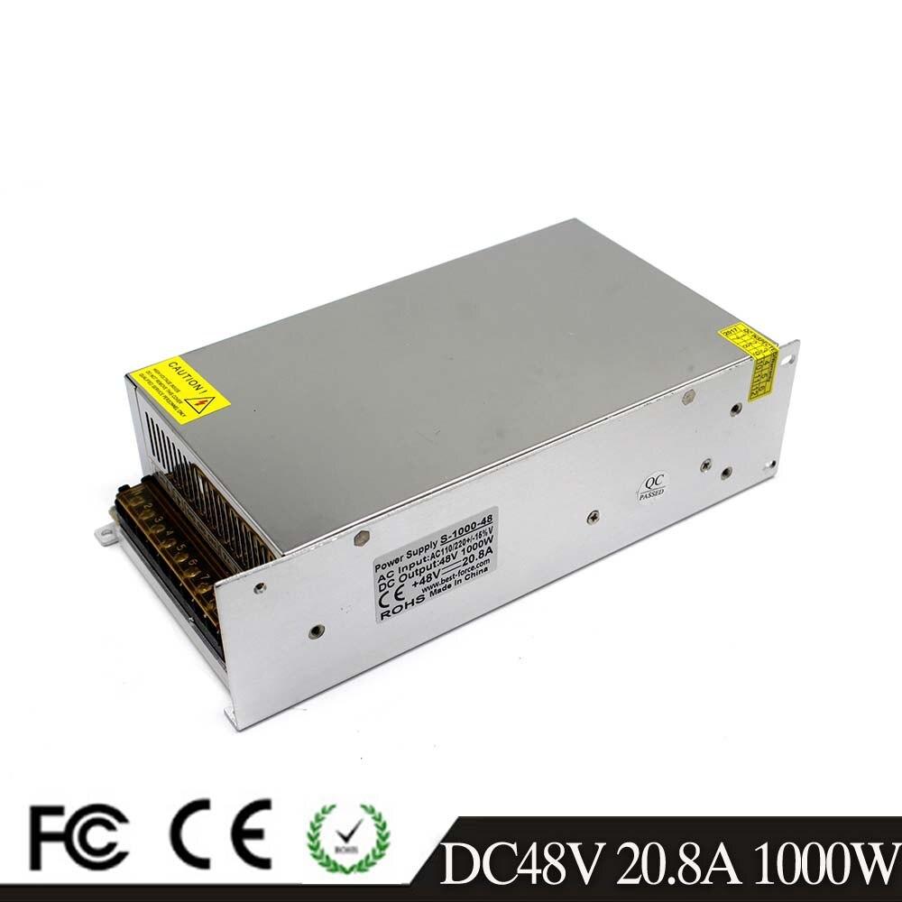 Universal Power Supply Switch 48V 20 8A 1000W Light Driver Transformer 220V 110V AC to DC48V