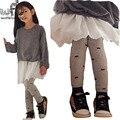 Retail 3-10years leggings cute beard thickened velvet children Kids infant Baby Cotton for spring autumn fall winter