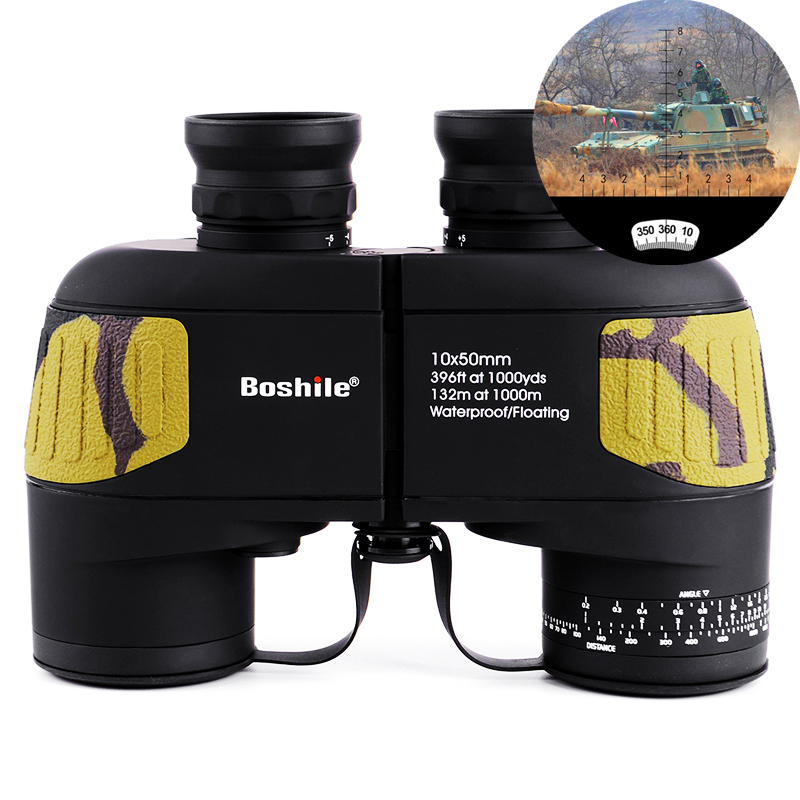 Boshile binoculars 10x50 Zoom Telescope with Built-in Rangefinder military Binocular HD High times Waterproof for hunting military waterproof binoculars boshile 10x50 navy telescope binocular with rangefinder and compass fully multi coated lens bak4