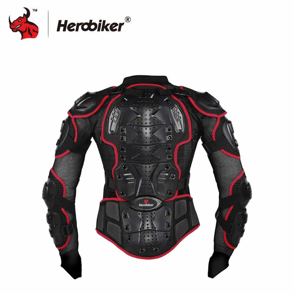 HEROBIKER Motosiklet Ceketler Moto Motocross Yarış Motosiklet vücut zırhı Koruyucu Ceket + Gears Şort Pantolon Kırmızı S-5XL