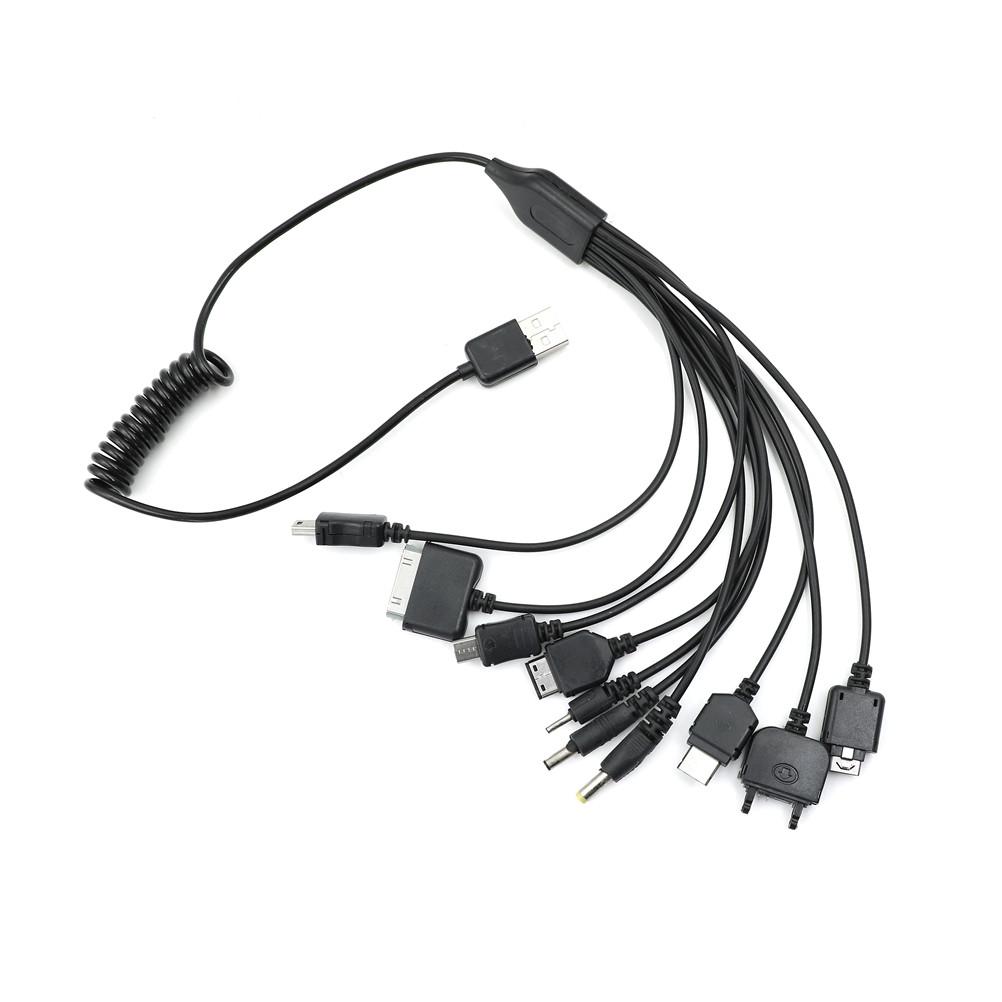 Multi 10 en 1 Universal multifunción teléfono móvil juego USB cargador de Cable de carga móvil cargador