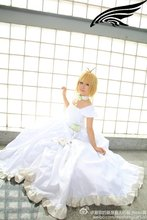Anime Sakura Cosplay Tsubasa Reservoir Chronicle Cosplay vestido blanco con el cuello accesorio
