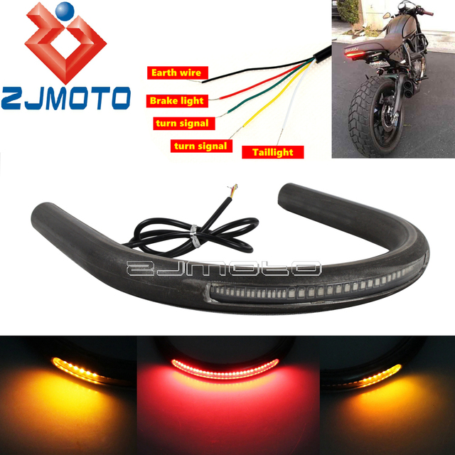 Motorcycle Cafe Racer Frame Hoop w/ Turn Signals Brat Style Seat ...