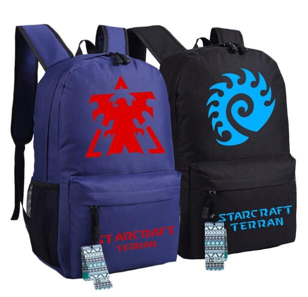 Star Craft Backpack Protoss Zerg & Terran School Shoulder Bag 45 X 32 X 14 Cm