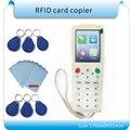 O envio gratuito de Super Mais freqüência RFID Copiadora Duplicadora IC/ID com mais Freqüência Com Cabo USB Para Tela LCD/bateria de lítio
