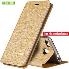 Xiaomi Mi Max флип кожаный чехол MOFi оригинальный Ун Макс алюминиевый металлическая крышка Сяо ми макс случае 6.44 дюймов коке fundas корпус