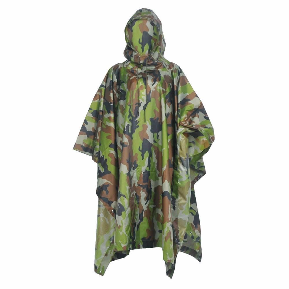 de camuflaje para usar de refugio para al aire libre. Poncho Loogu impermeable Rain Poncho