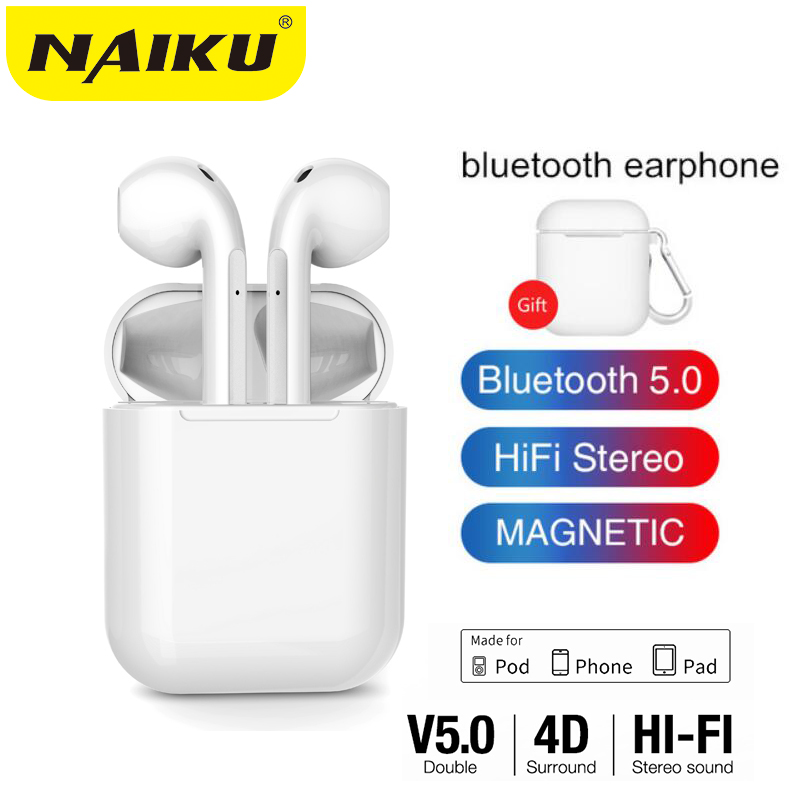 NEW Wireless Bluetooth Earphone HIFI <font><b>TWS</b></font> Wireless Earphones With Charging Box Auriculares bluetooth inalambrico Headset PK <font><b>i12</b></font> image