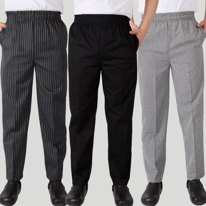 VIAOLI Kitchen Pants High Quality Hotel Stripe Elastic Chef Uniforms Kitchen Work Clothes Restaurant Trousers Zebra Pants