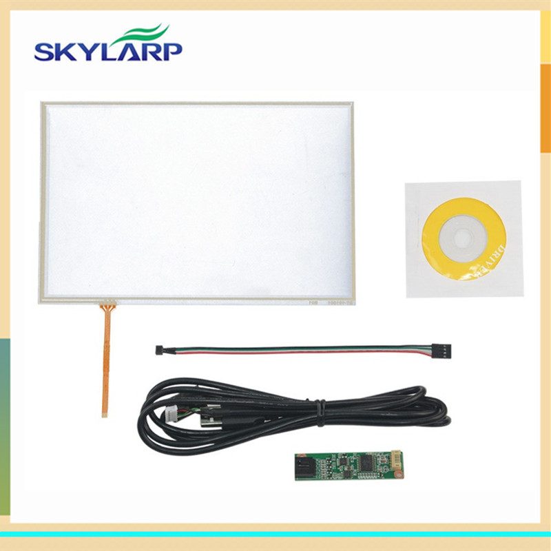 skylarpu New 10.1 inch 4 Wire Resistive Touch Panel USB Controller For B101UAN02.1 LED Screen touch panel Glass amt 146 115 4 wire resistive touch screen ito 6 4 touch 4 line board touch glass amt9525 wide temperature touch screen