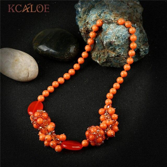 collier orange pour femme