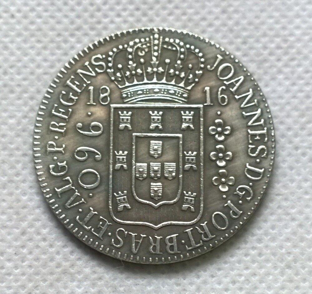 1816 Бразилия 960 Reis МОНЕТА КОПИЯ БЕСПЛАТНАЯ ДОСТАВКА