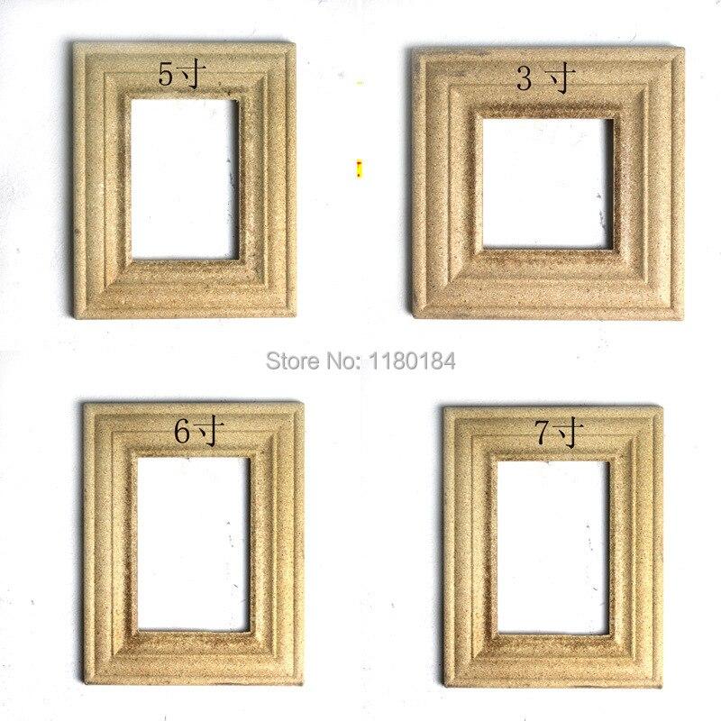 Workblank wood craft photo frame raw material for framework photo ...