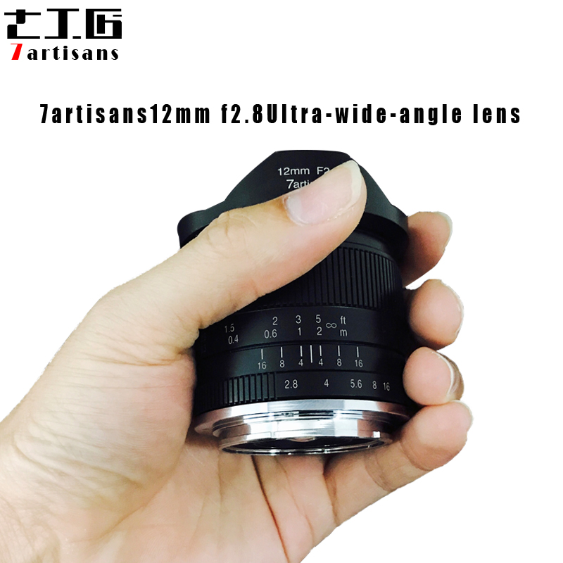 7 artesanos 12mm f2.8 lente Ultra gran angular para Sony e-mount APS-C cámaras sin espejo A6500 A6300 A7 lente fija de enfoque Manual