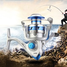 Metal Fishing Reel Coil Spinning Reels and Shallow Spool Three models 1000/2000/3000/5000/6000 Series 5:2:1 10BB Cast precision цена 2017