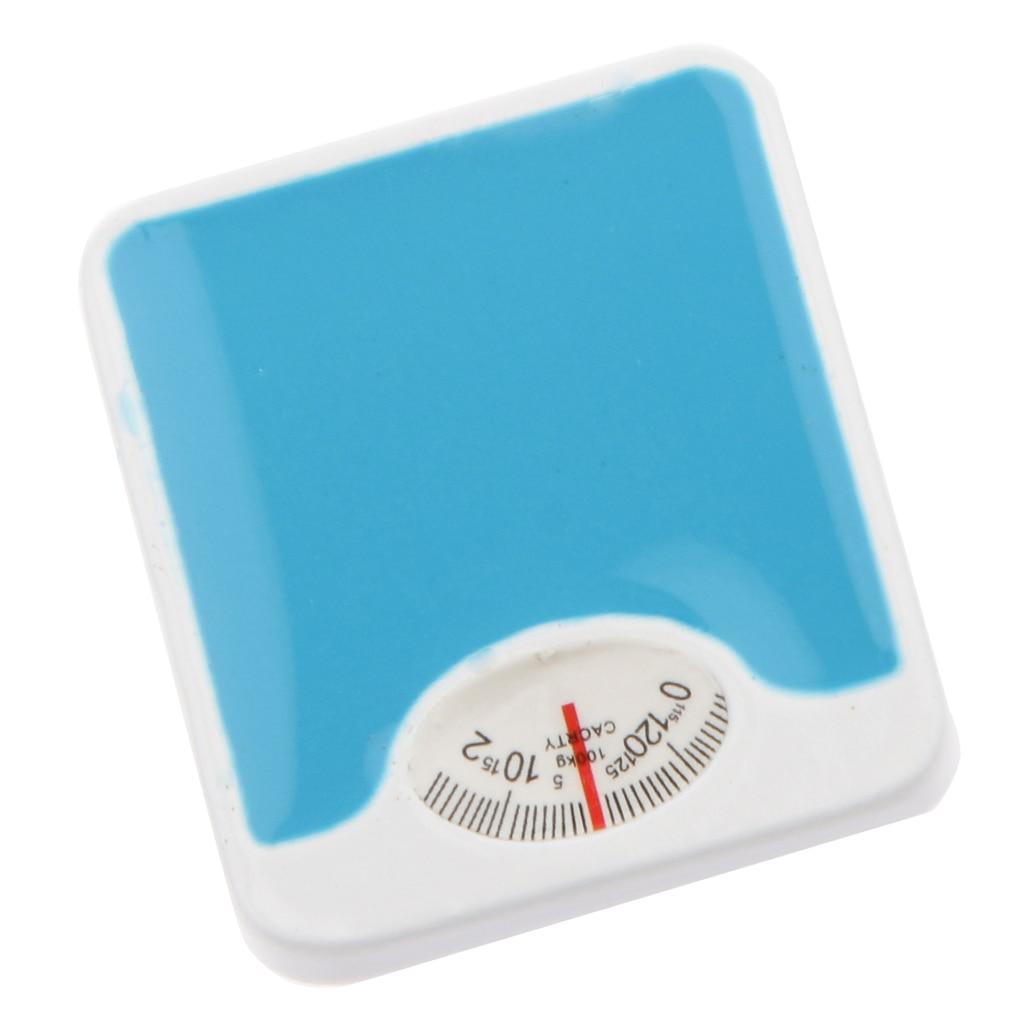 Dolls House Miniature 1:12 Mini Blue Weight Weighing Balance Bathroom Scale