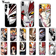 Yinuoda bleach ichigo hollow Mask Apple iPhone 8 7 6 용 다채로운 귀여운 휴대 전화 케이스 6S Plus X XS MAX 5 5S SE XR 11 11pro 11promax(China)