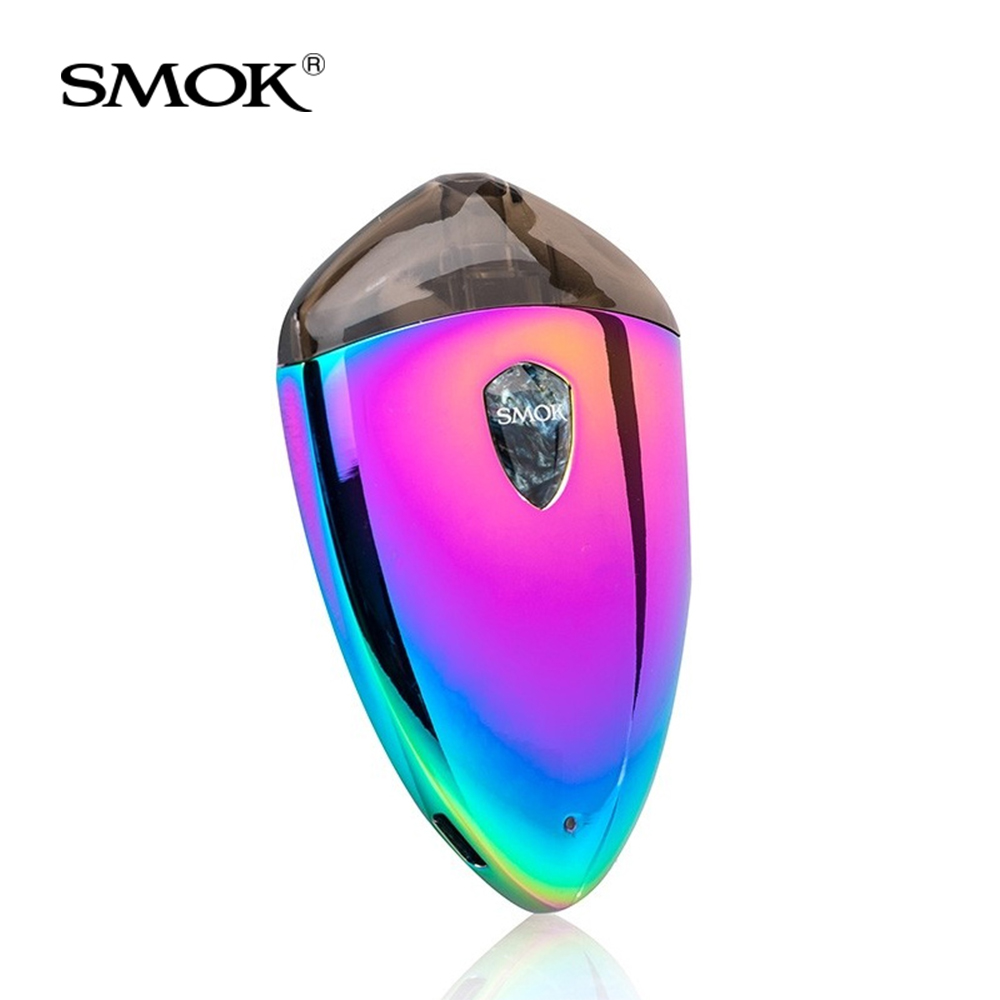 Original SMOK Rolo Badge Starter Kit built in 250mAh Battery All-in-One Pod System 2ml with LED Light Electronic cigarette kit