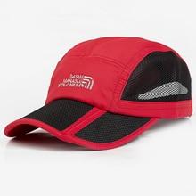 Foldable Baseball Cap Sport Quick-drying Outdoor Snapback Summer Hat 8 Colors Bone Gorras Casquette