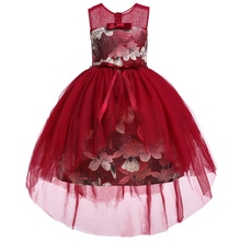 6c544e96d La muchacha de flor boda vino rojo bordado vestido de fiesta de princesa de  la muchacha · 6 colores disponibles